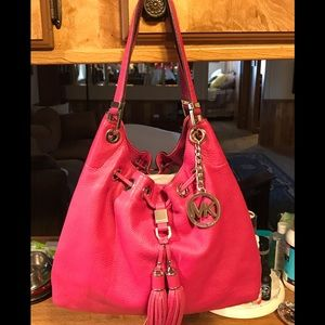 Michael Kors Large Camden Drawstring HOT PINK